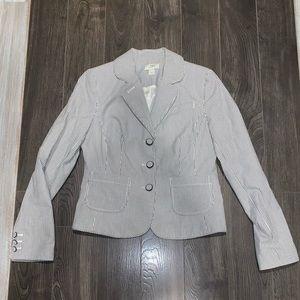 Ann Taylor pinstriped blazer